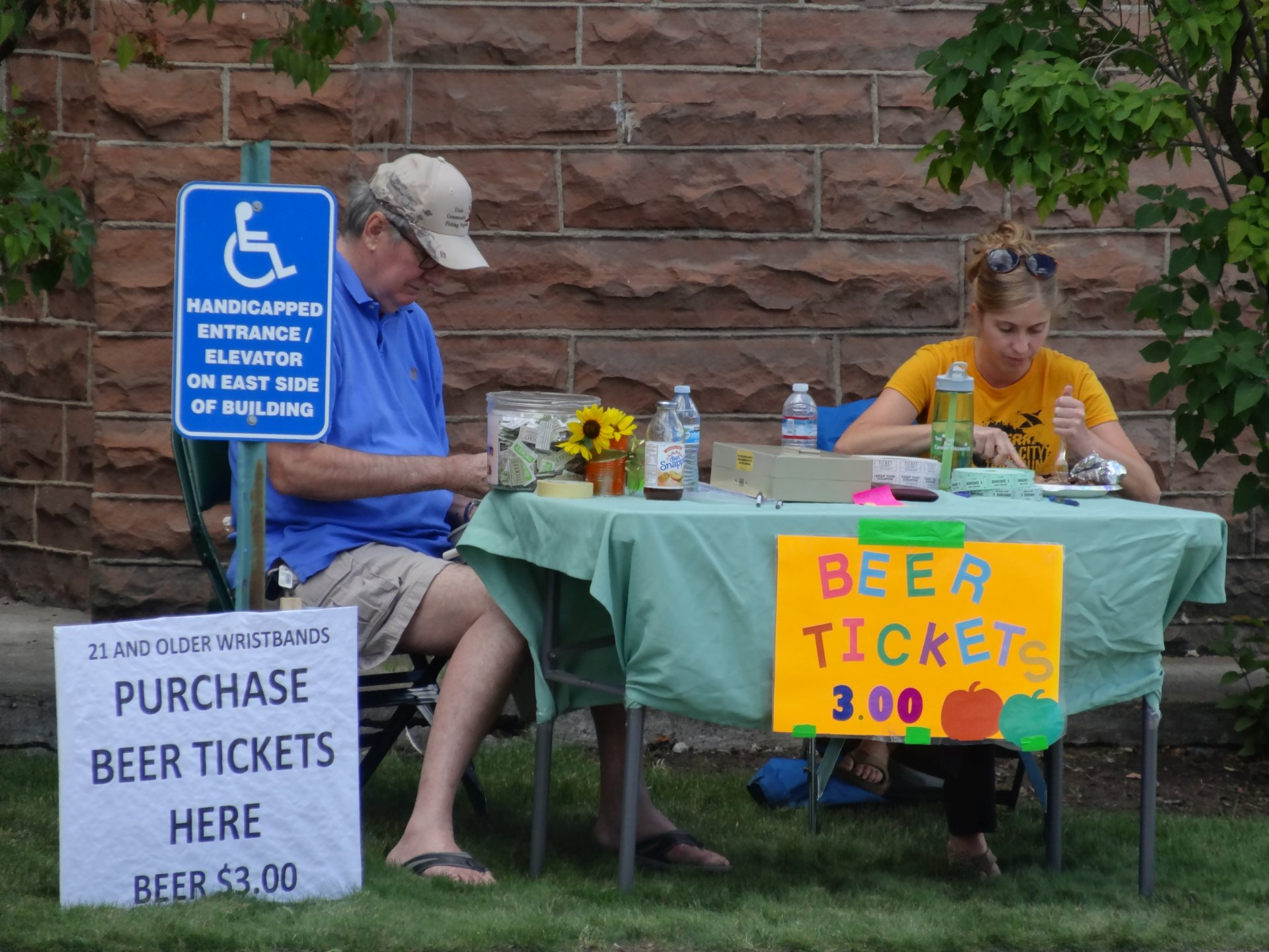 A Knight Manning the Ticket Table