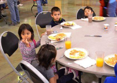 Some of the Kids Having Breakfast