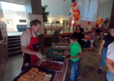 Fr. Stans Retirement Party - Serving Hotdogs